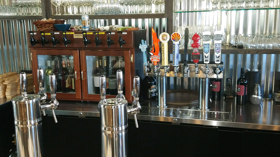 beer and wine taps